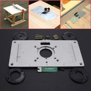 Aluminum router table insert plate 2351208mm for woodworking bench image is loading aluminum router table insert plate 235 120 8mm keyboard keysfo Gallery