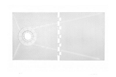 """TruGard 49/"""" x 60/"""" One-Slope STANDARD Linear Drain Shower Tray"""