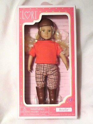 "Lori Doll Horse Riding Philippa Small 6/"" Brunette Hair Brown Eyes Girl NEW"