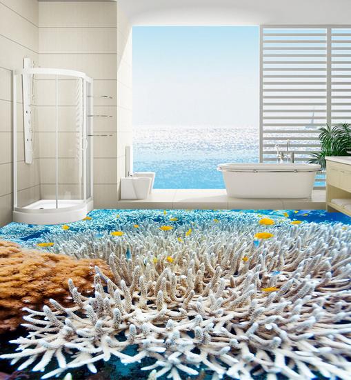 3D Korallen Fototapeten Wandbild Fototapete Tapete Familie DE Lemon