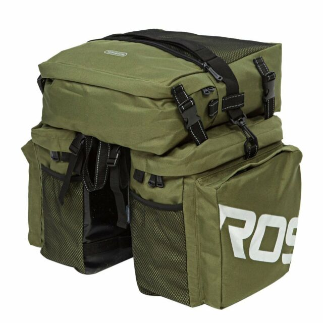 Docooler 3 in 1 Multifunction Road MTB Mountain Bike Bag Bicycle Pannier Rear Seat Trunk Bag