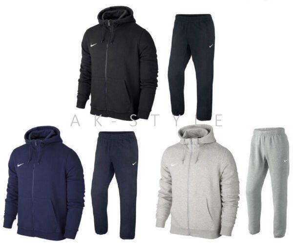 100% De Calidad Para Hombre Nike Full Zip Chándal Club Polar Cremallera Completa Con Capucha Pantalones Deportivos-s M L Xl-ver