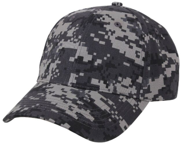f8c105fe454 Men s Gray Subdued Urban Digital Camo Low Profile Adjustable Baseball Cap  Hat
