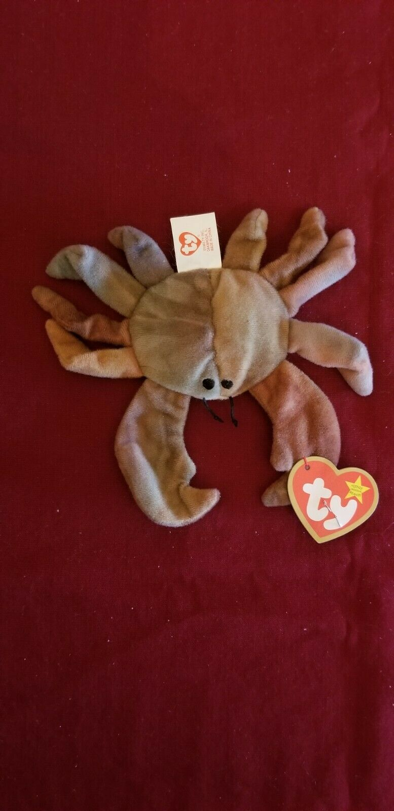 RARE 1993 TY Teenie Beanie  Claude  the the the Crab with errors 92b7f7