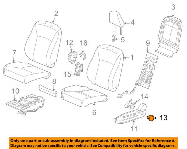 Front Left Honda Genuine 81531-TA0-A01ZA Seat Cushion Trim Cover