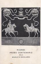 Z599) PINEROLO (TORINO) 1924, CENTENARIO DELLA SCUOLA DI CAVALLERIA. VIAGGIATA.