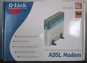 D-link Dsl-360i/de High Speed Adsl Modem U-r2 Performance Câble Modem Major Fai-afficher Le Titre D'origine Wvy9i80m-07165558-761570404