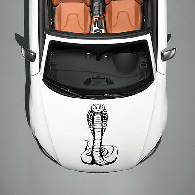 BEAUTIFUL COBRA SNAKE ANIMAL MURALS DESIGN  HOOD CAR VINYL STICKER DECALS SV1052