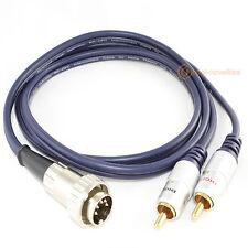 NAIM 5 PIN DIN Twist Lock a Phono RCA OFC cavo di interconnessione (1M)