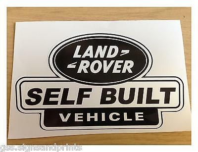 SILVER X3 LAND ROVER SELF BUILT DEFENDER DISCOVERY DECAL STICKER 90 110  TD5