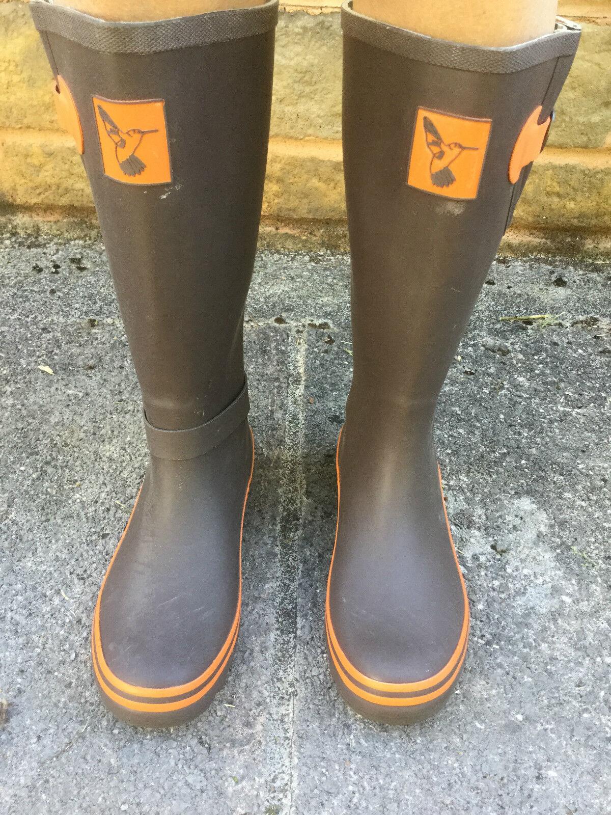 Evercreatures Terracotta Festival Wellies Wellington Boots - Brand New