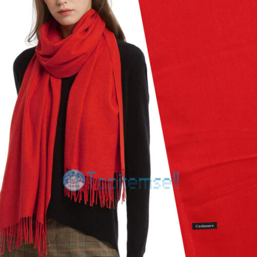 Womens Mens 100/% Cashmere Scotland Oversized Blanket Wool Scarf Shawl Wrap Solid
