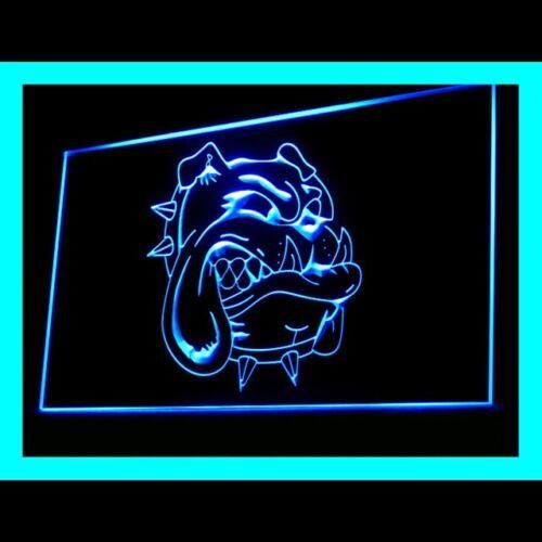 210135 Bergamo Bulldog pet Shop Bar Blatant Sign Carrying Please LED Light Sign