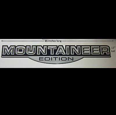 """Montana /""""MOUNTAINEER EDITION/"""" RV LOGO Graphic Lettering decal 5th Wheel"""