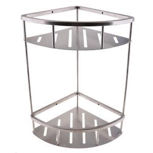 1 2 Tier Stainless Steel Corner Shower Caddy Bathroom Rack Shelf
