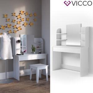 Frisiertisch Ohne Spiegel vicco schminktisch 142x108 cm weiß frisiertisch kommode