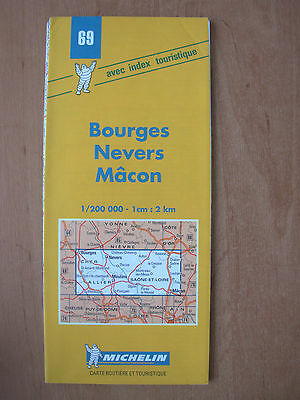 MICHELIN FOLDING SHEET TOURIST MAP 69 FRANCE - BOURGES NEVERS MACON 1999 |  eBay