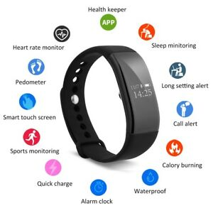 Image Is Loading Waterproof Bluetooth Smart Watch Wristband Health Bracelet Sport