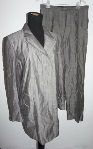 DKNY Gray Pinstripe 2 Piece Business Suit Womans S