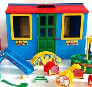 Kinder Garten Kindergarten Haus Spielhaus Blau Plastic Vintage Ebay