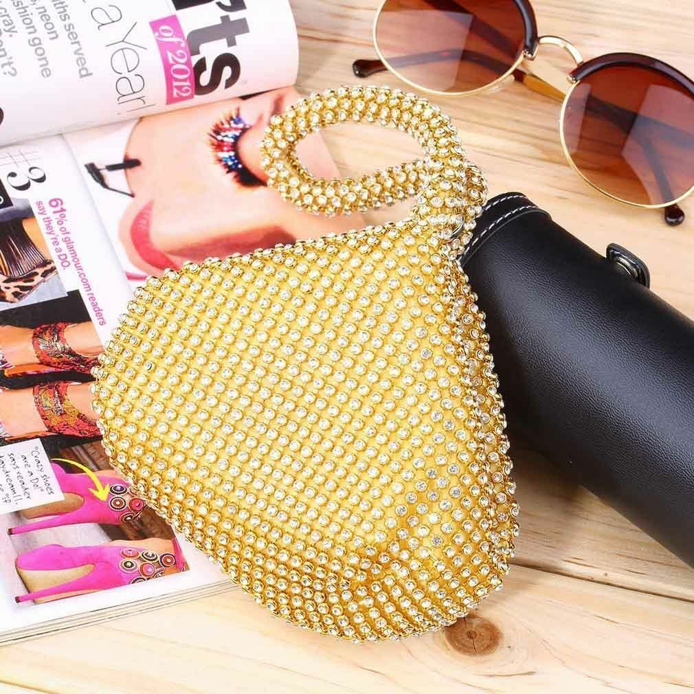 Gold Clutch Bag Party Prom Wedding for Lady