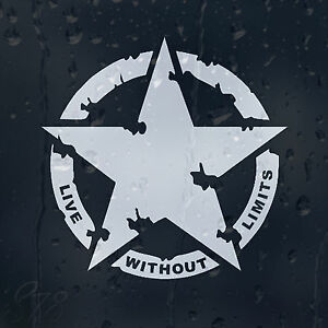 Image is loading Military-Army-Star-Live-Without-Limits-Car-Decal-