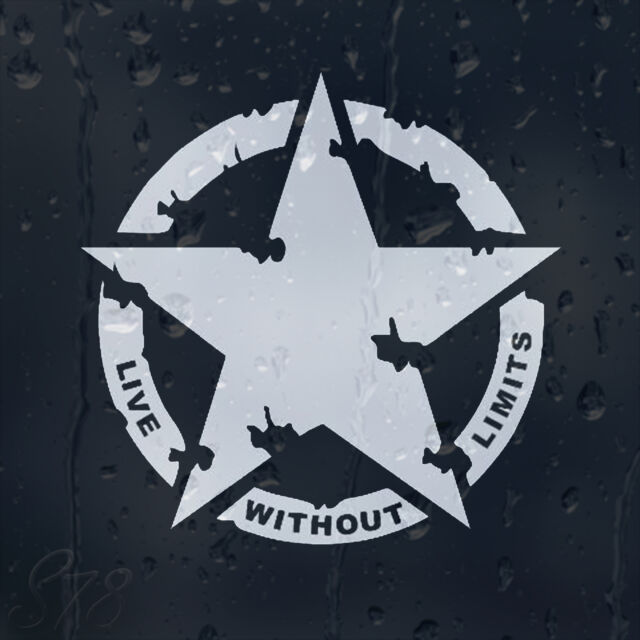 Military army star live without limits car decal vinyl sticker