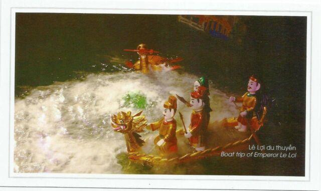 Postcard Vietnam Hanoi Thang Long Water Puppet Theatre Unused MINT