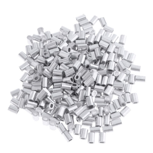100Pcs//Lot Aluminum Oval Barrel Crimp Sleeves 0.8mm//1mm//1.2mm//1.5mm 4 Sizes