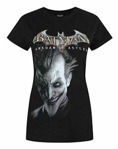 Batman-Arkham-Asylum-Joker-Women-039-s-T-Shirt