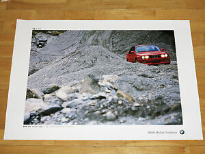 BMW-M3-E30-POSTER-34-034-75-YEARS-BMW-AUTOMOBILES-034-ORIGINAL-VINTAGE-in-MINT