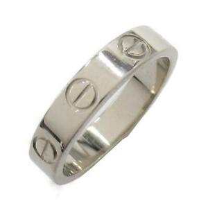 Cartier Mini love ring bague anello #7 18K 750 White Gold