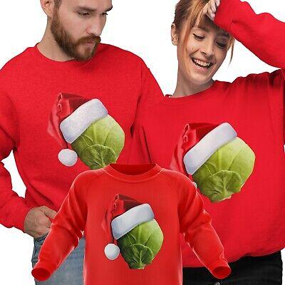 Sprout Hat Christmas Festive Jumper Sweater Funny Joke Dinner Gift Present Kids