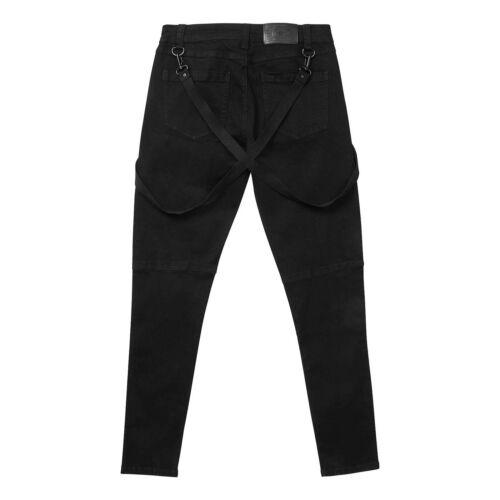 KILLSTAR Brimstone Jeans Gothic Punk Hose Schwarz Skinny-Fit Black Wash Denim