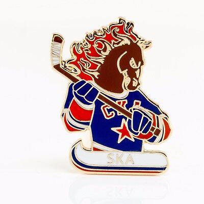"Hockey Skilful Manufacture Khl Ska Saint Petersburg ""mascot"" Pin Lapel Badge"