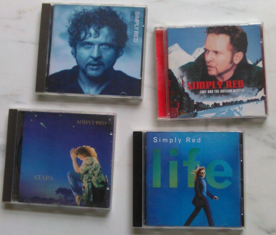 Simply Red: 4 CD'er stk. 25 kr.- eller samlet 80 kr., rock