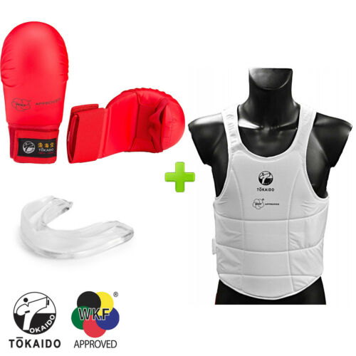 Tokaido Karate WKF Competition Red Gloves /& Body Protector