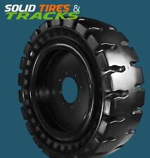 4 No Flats 12 165 33x12 2012x165 Solid Skid Steer Tires Rims Severe Duty