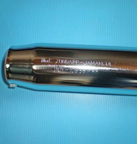 Zündapp C GTS 50 Chrom Auspuff 36 Krümmer 32 mm Zylinderanschluß 529-22.704 NEU