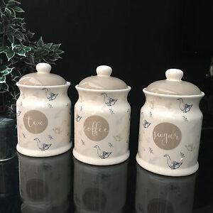 Image Is Loading Novelty Farm House Ceramic Storage Jars Set 3