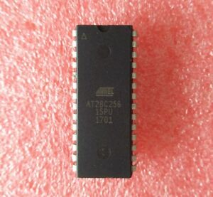 2PCS EEPROM IC  DIP-28 AT28C256 AT28C256-15PU NEW