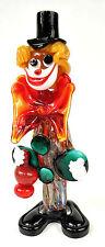 "Murano Italy Art Glass Clown Figurine Big Bow Tie 10"""