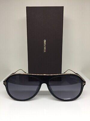 Tom Ford TF 624 FT0624  Nicholai-02 shiny blk rose gold metal 01C Sunglasses