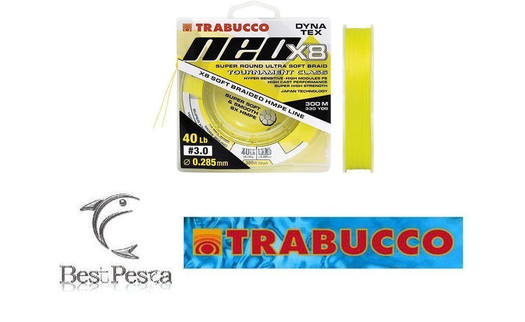 TRABUCCO - NEO X8 - 300mt - Ø 0,148 - 15 LBS - YELLOW