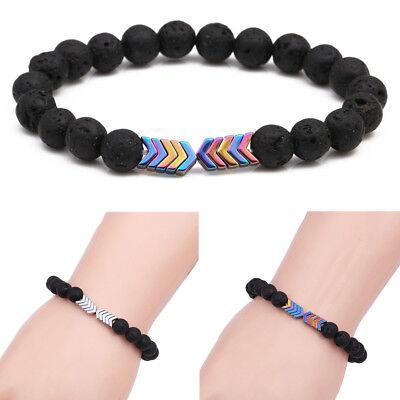 Arrow Lava Rock Chakra Stone Sacred Arrow Energy Reiki Diffuser Healing Bracelet