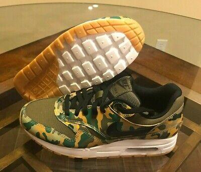 Nike Air Max 1 GS Military Camo Olive Black AR1139 200 Mens Size 7 Women's 8.5 820652609495   eBay