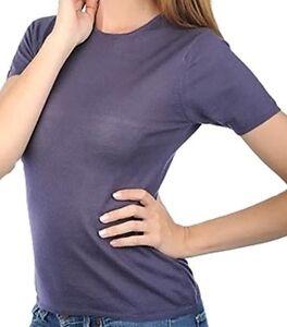 100 Damen Rundhals Balldiri S Shirt Brombeere Cashmere E6wgd7