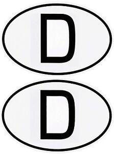 2-x-D-Schild-Deutschland-D-Aufkleber-zwei-Stueck-a-72-x-51-mm-FasCalFolie-Sticker