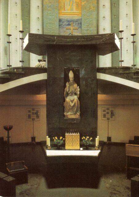 AK, Berlin Mitte, St.-Hedwigs-Kathedrale, Altarstele mit Petrusstatue, 1988