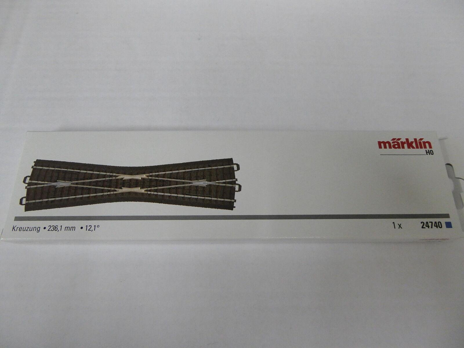 Arti.-Nr.24740 Märklin C-Gleis Kreuzung schlank 236,1 mm NEUWARE